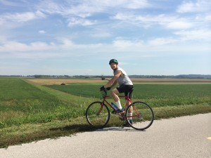 Rich biking on katy  trail
